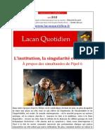 Lacan y su unica invencion post freudiana