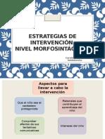 Estrategias de Intervención Morfosintaxis