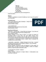 Curriculum Vitae Gustavo