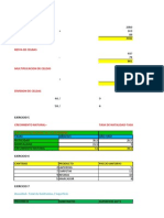Ejercicios de Excel Primera Parte