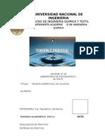 FIQT - Labo FisicoQuimica 1 - N°6 - Tension Superficial