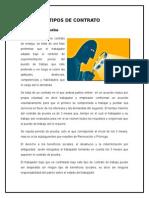 ALGUNOS TIPOS DE CONTRATO LABORAL