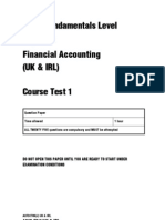 ACCA Fundamentals Level Paper F3 Financial Accounting