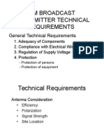 Am Broadcast Transmitter Technical Requirements
