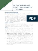 Prevencion de Riesgos Laborales y Condiciones de Trabajo