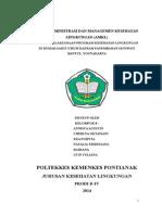 Tugas Asministrasi Dan Managemen Kesehatan Lingkungan