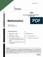 2002 maths