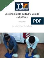 Entrenamiento RCP y Extintores