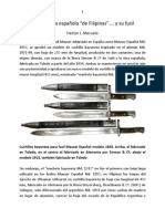 Bayoneta Filipinas y Fusil
