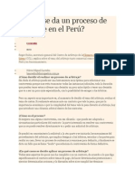 Cómo Se Da Un Proceso de Arbitraje en El Perú