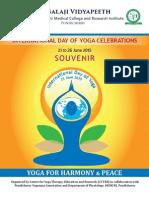 Souvenir of the INTERNATIONAL DAY OF YOGA CELEBRATIONS 2015