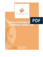 LCM - Feature Additions Over Cisco Unified UCCE Dialer