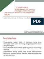 Ppt Analisis Potensi Energi Terbarukan Biomassa Sawit Di Daerah Semuntai Kalimantan Timur