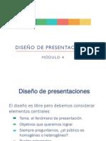 Diseño de las presentaciones