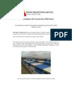 Richa Completes L&T Construction PEB Project [Company Update]