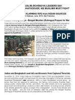 'Rohingya' Prepare for War - Indian Sources and Intel
