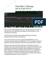 Creating the Step Editor's Missing Expression Lane in Logic Pro X
