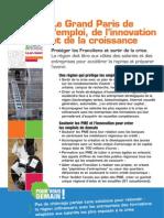 Le Grand Paris de l'emploi, de l'innovation et de la croissance