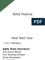 AGILE Development Practice