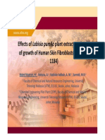 Effects of  Labisia pumila plant extract on the rate  of growth of Human Skin Fibroblasts Cells (HSF of growth of Human Skin Fibroblasts Cells