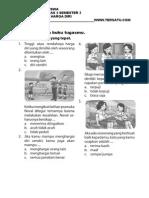 Soal UH PKN Kelas 3 Bab Pentingnya Harga Diri Semester 2