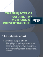 The Subjects of Art and the Methods