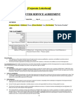 Computer Service Agreement