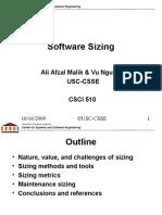 Software Sizing