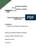 Analisis Del Programa de Estudios 2011