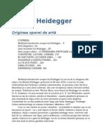 Martin Heidegger-Originea Operei de Arta