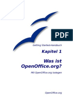 OpenOffice - Handbuch - Kapitel 1
