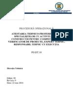 Reglementari Tehnice Procedura Operationala