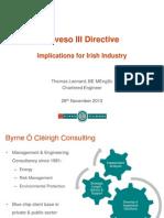 Seveso III Directive Implications for Irish Industry