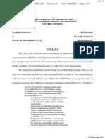 Durant v. State of Mississippi et al - Document No. 5