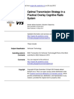 Optimal Transmission Strategy in a Practical Overlay Cognitive Radio System
