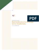 Weblogic Mail Notification for Server Health
