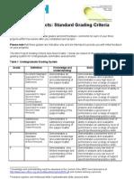 Mini Project- Standard Grading Criteria