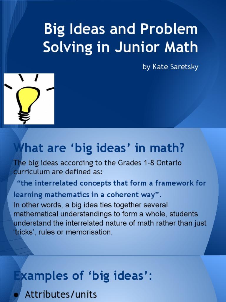big ideas in math | Physics & Mathematics | Mathematics