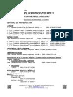 Libros Primaria 2014-2015