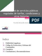 Publicidad de Servicios Regulados