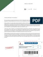 Lettre Marine Le Pen sur les nouveaux statuts du FN
