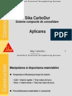 Sika CarboDur - Aplicarea