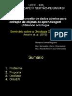 Apresentação Seminário - Ontologia ONTOER