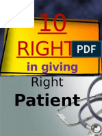 10 Rights in Giving Medication