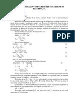 4. Determinarea Conductivitatii Solutiilor de Electrolitilor