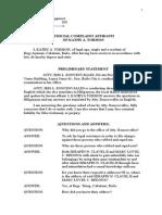 4. Complaint Affidavit