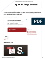Os Scripts Downloader Scribd e Truques Para Fazer o Download Sem Upload