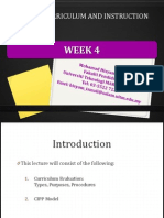 edu555 curriculum evaluation cipp model week 4