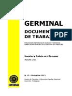 JUVENTUD Y TRABAJO EN EL PARAGUAY - MARCELO LACHI - N 15 DICIEMBRE 2012 - PORTALGUARANI