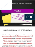 week 5 the school curriculum